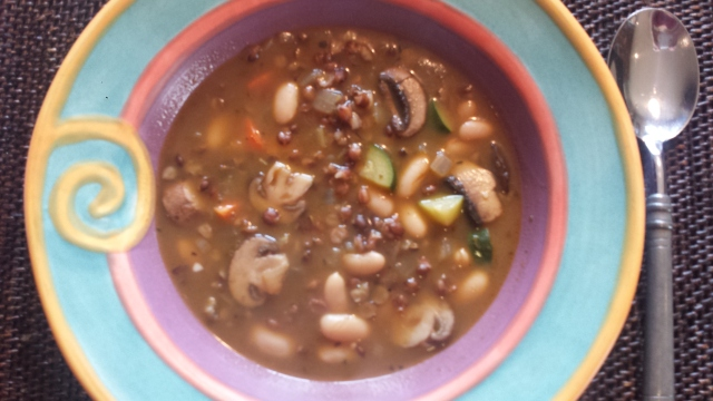 Mushroom Barley Soup 1